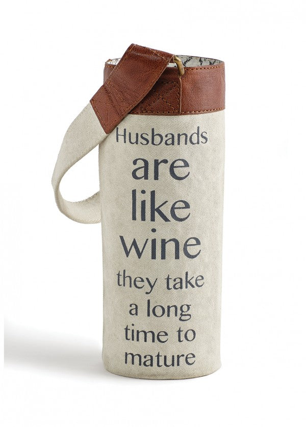 Husbands are like Wine - Wine Koozie/Carrier
