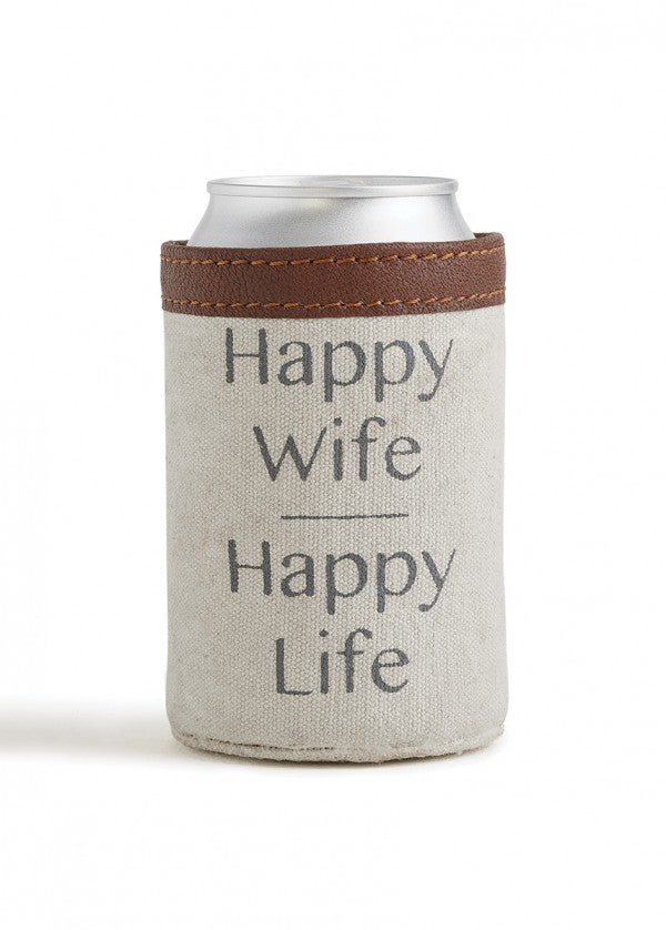 Happy Wife, Happy Life - Can Koozie