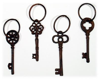 Cast Iron Keys w/ Ring