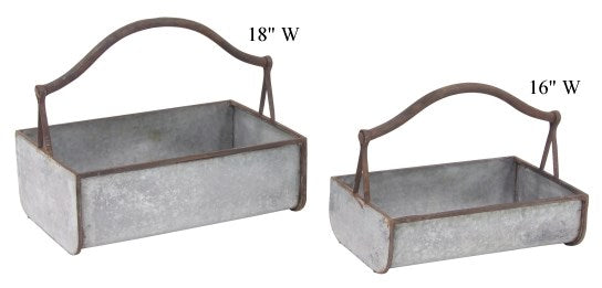 Metal Tote Baskets