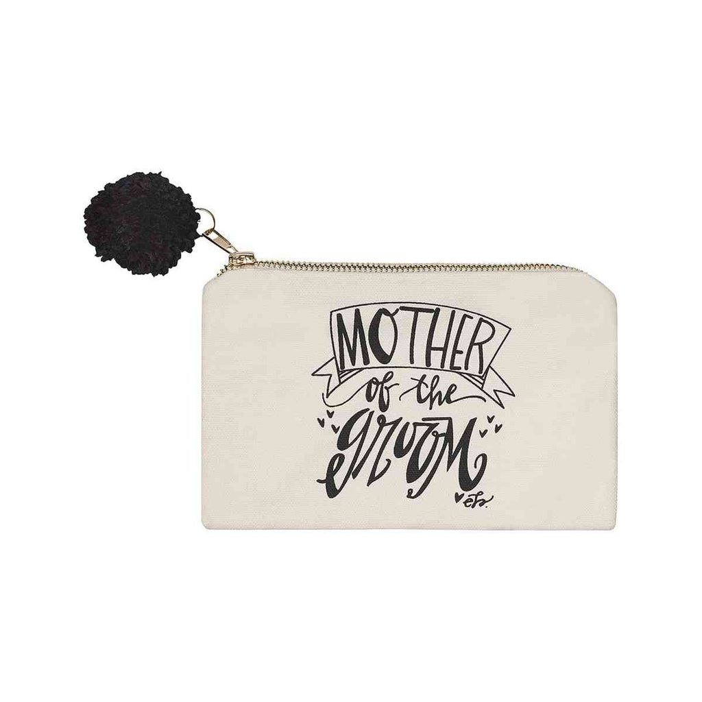 mother of the groom white cosmetic bag