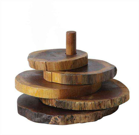 natural wood slice coaster