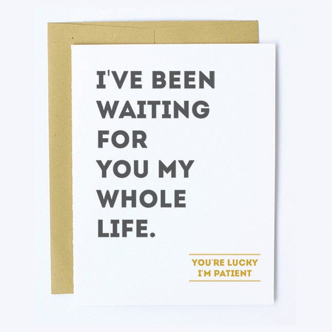 Patiently Waiting - Note Card