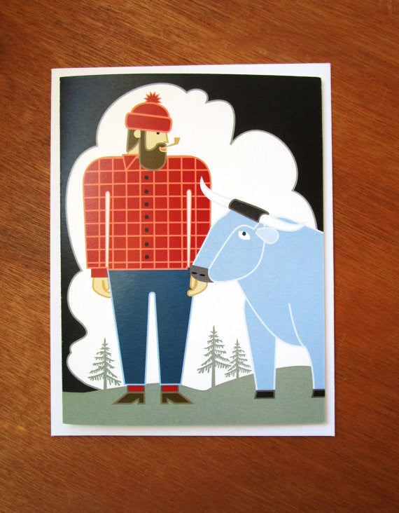 Paul Bunyan card