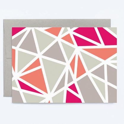 Pink Geometric - Note Card