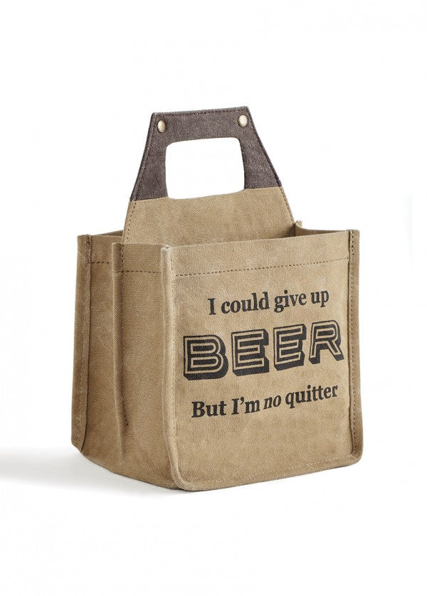 Not a Quitter - Beer Caddy