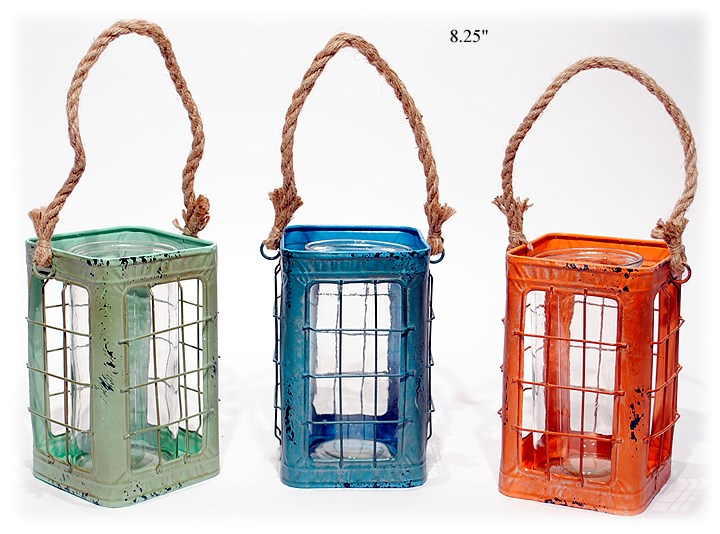 Colorful Rustic Lanterns