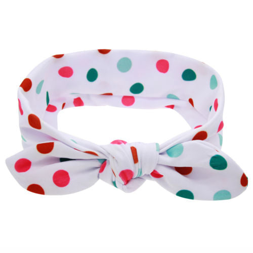 Festive Dots Bow Headband