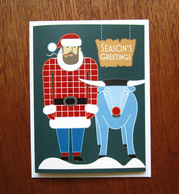 Santa Paul Bunyan - Note Card
