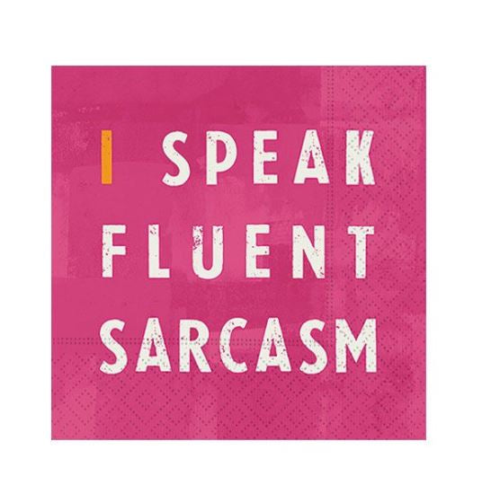 Fluent Sarcasm Cocktail Napkins