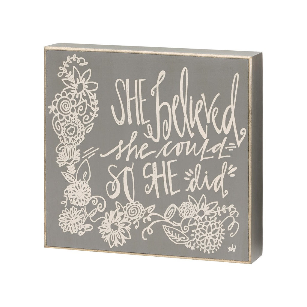z So She Did - Box Sign