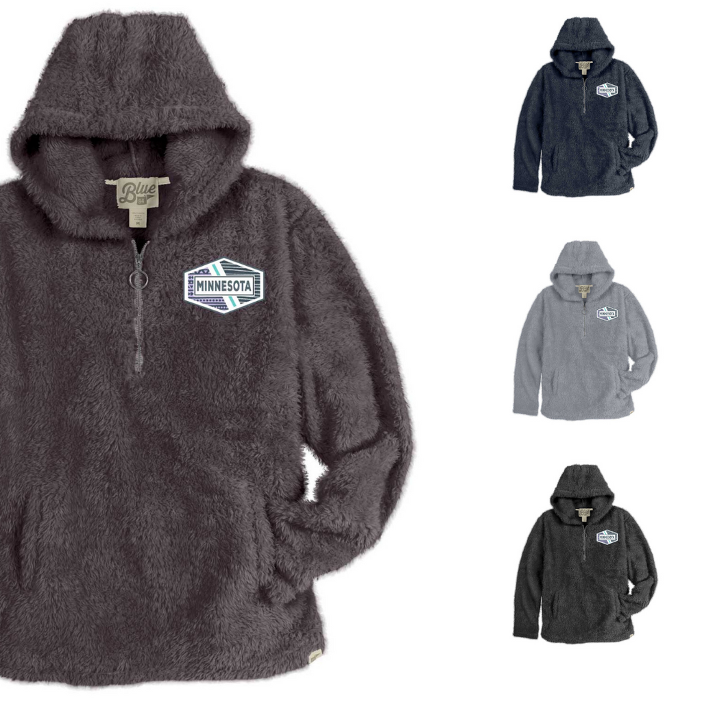 Minnesota 1/4 Zip Sherpa Hoodies