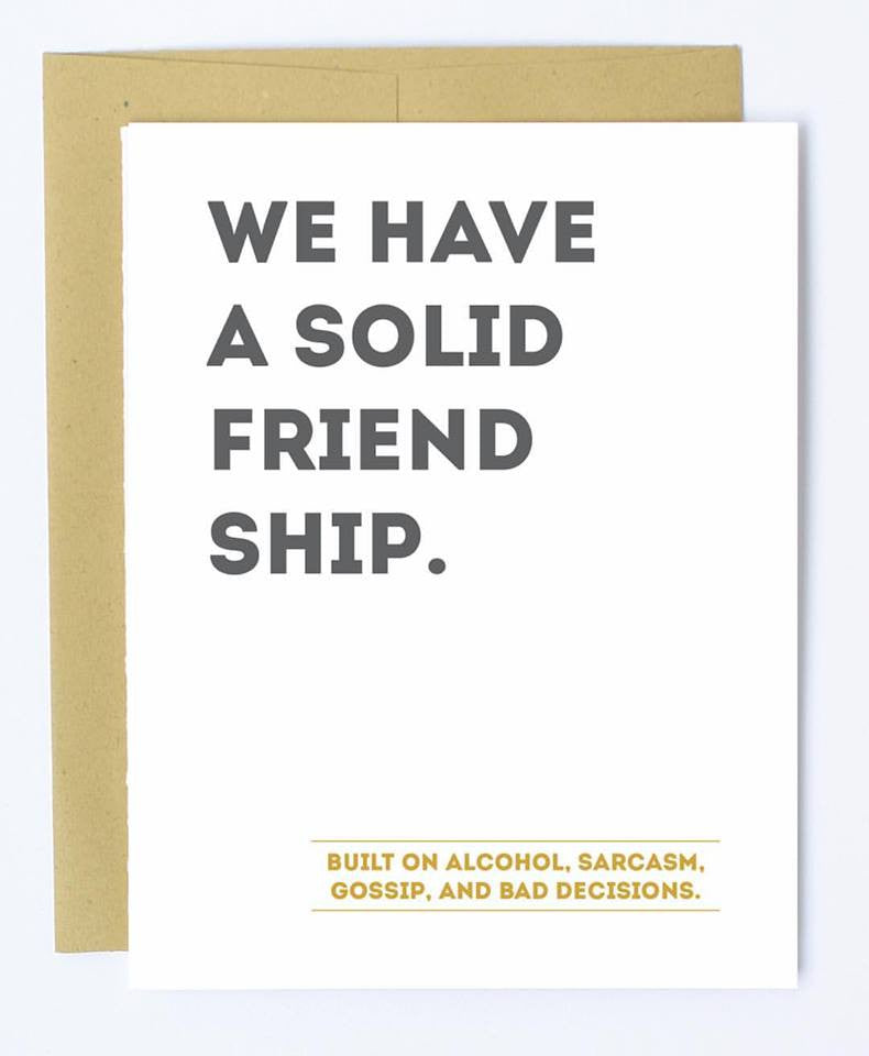 Solid Friendship - Note Card
