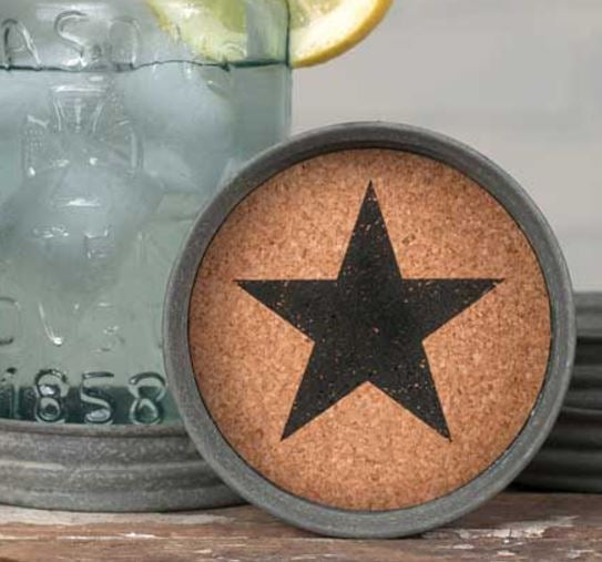 Star Mason Jar Lid Coasters