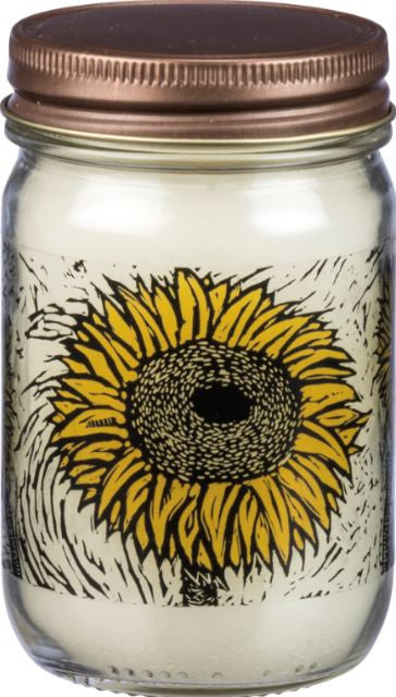sunflowers candle mason jar