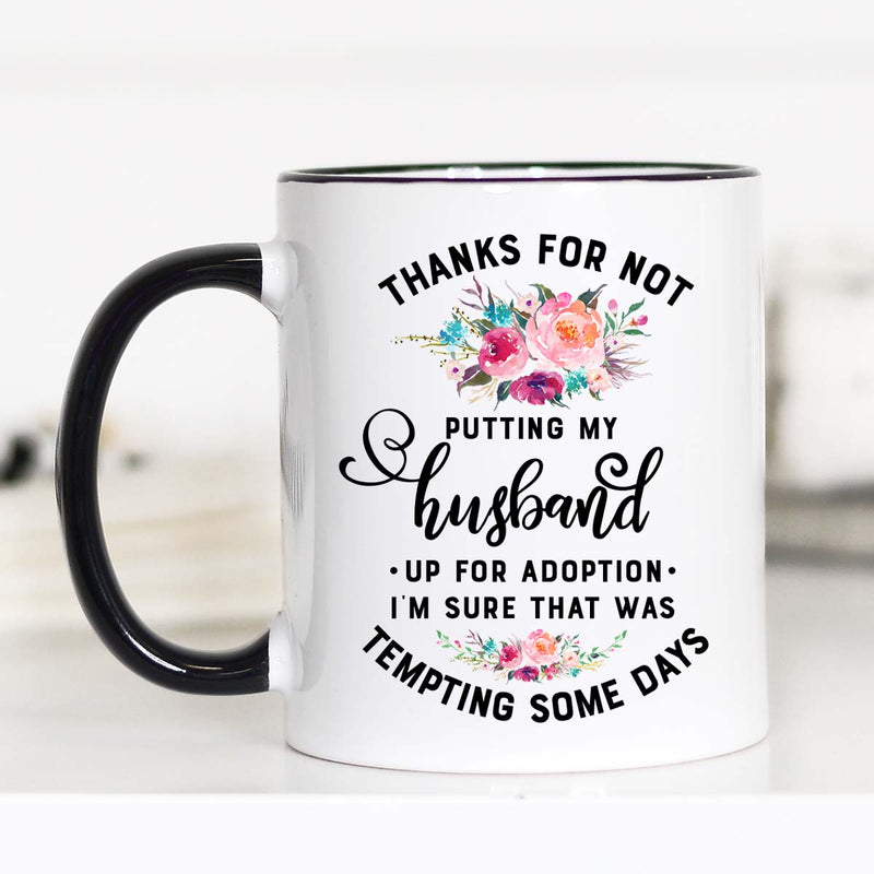 Husband Up For Adoption - Mug