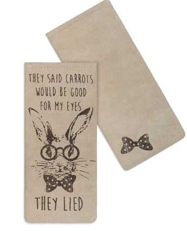 bunny eye glass case carrots