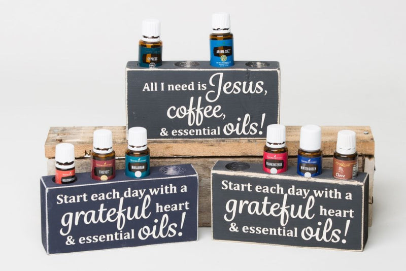 Start each day with a grateful heart & essential oils! - Medium Holder