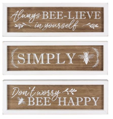 Motivational Bee Signs - 3 designs