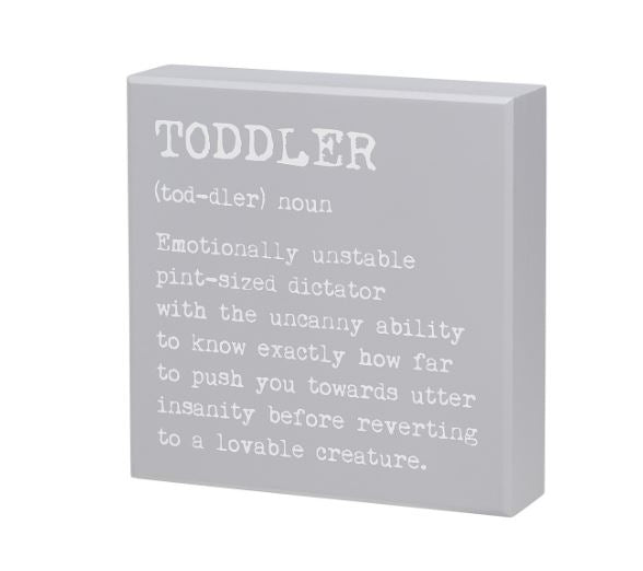 Toddler Definition - Sign