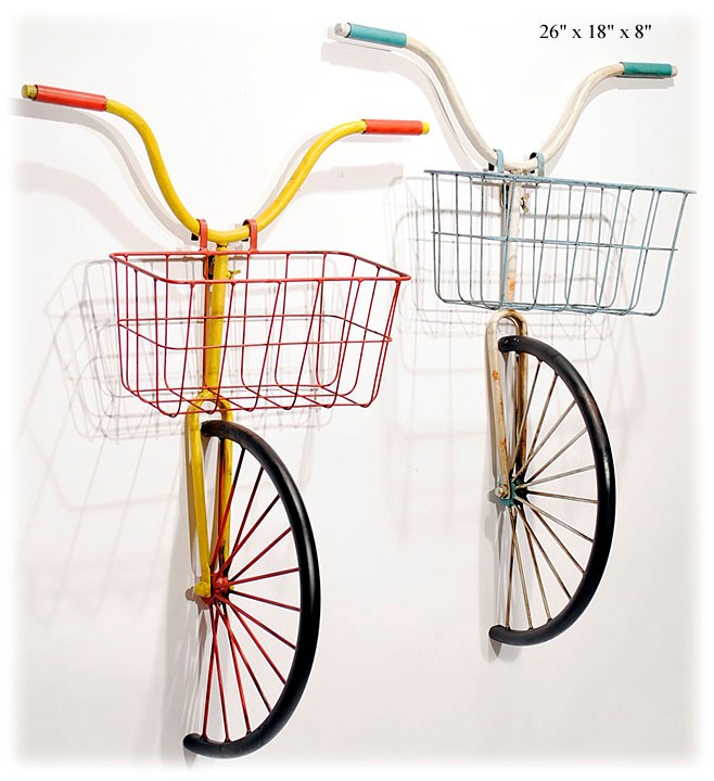 Bicycle w/ Basket Wall Art