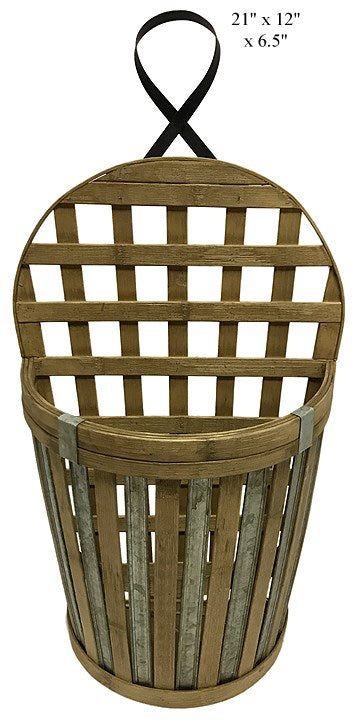 Bamboo Wall Basket