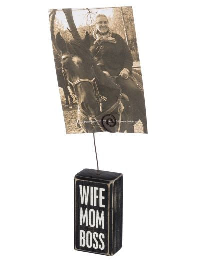 Wife, Mom, Boss - Photo Holder