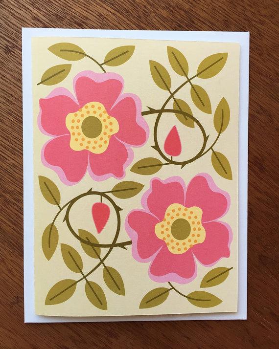 Wild Roses - Note Card