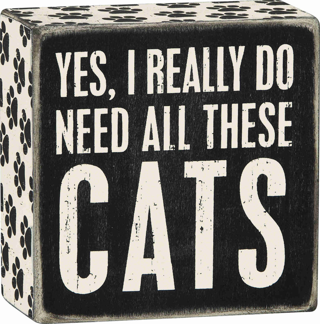 yes i really do need all these cats wooden sign