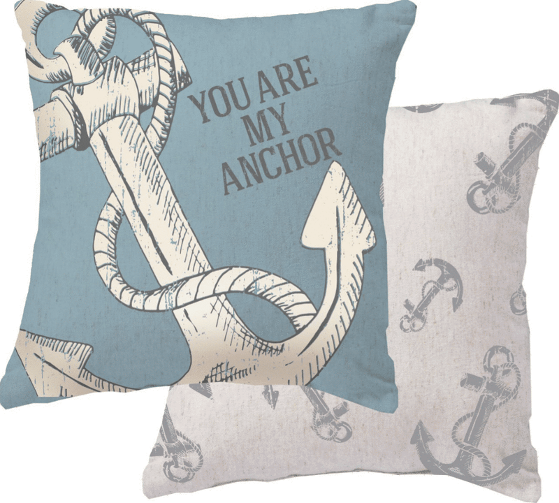 you are my anchor nautical pillow