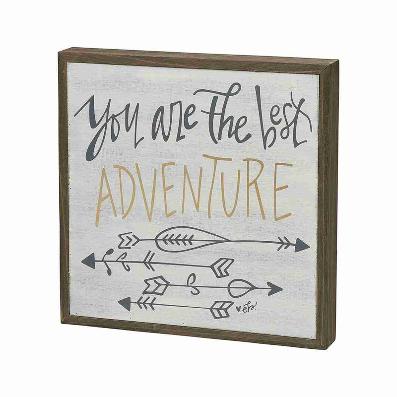 you are the best adventure painted wooden sign with arrows
