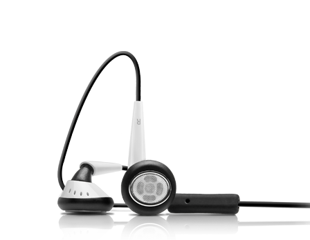 EarTones Earphones (Black+White)