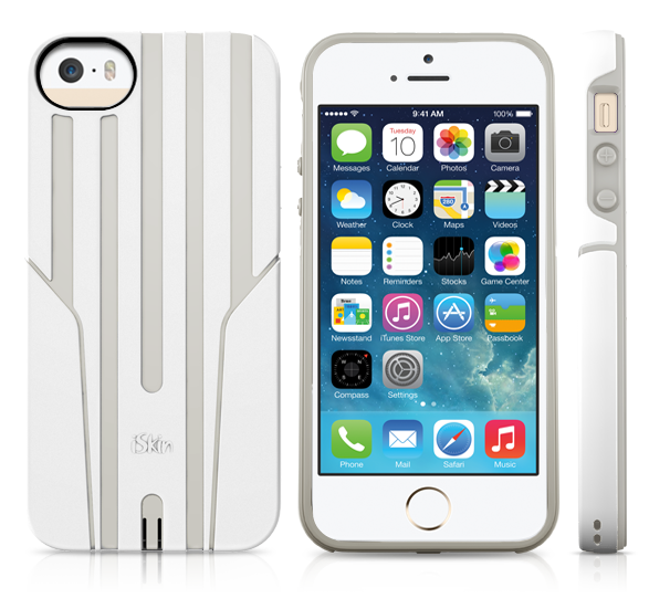 iSkin Exo for iPhone5/5S/SE (White/Eggshell)