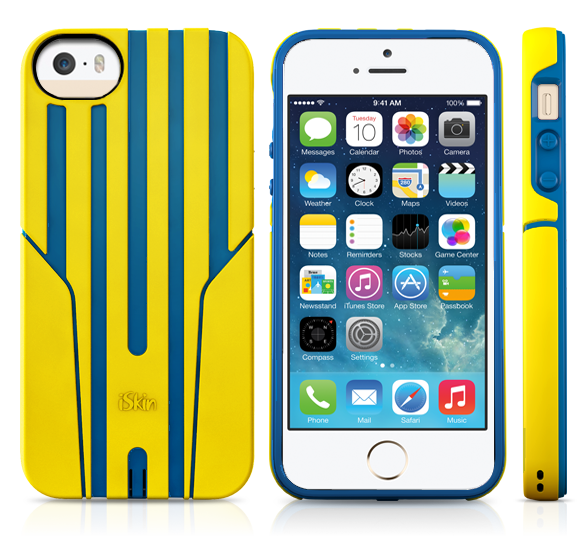 iSkin Exo for iPhone 5/5S/SE (Yello/Blue)