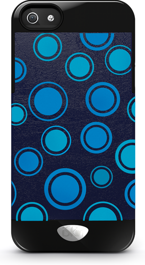 iSkin Vibes Polka Dot for iPhone 5/5S/SE (Blue)