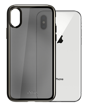 iSkin Claro SE for iPhone X - Dark Chrome