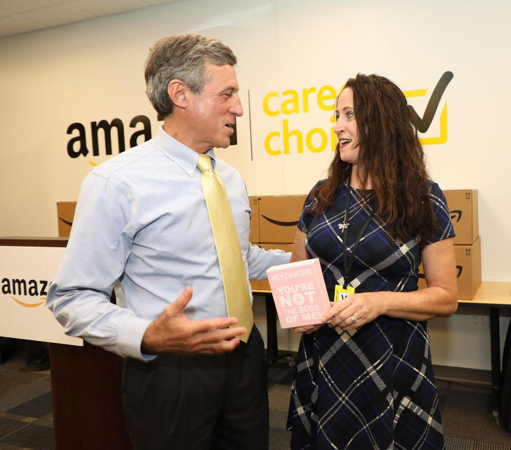 Meeting Governor John Carney at Amazon!