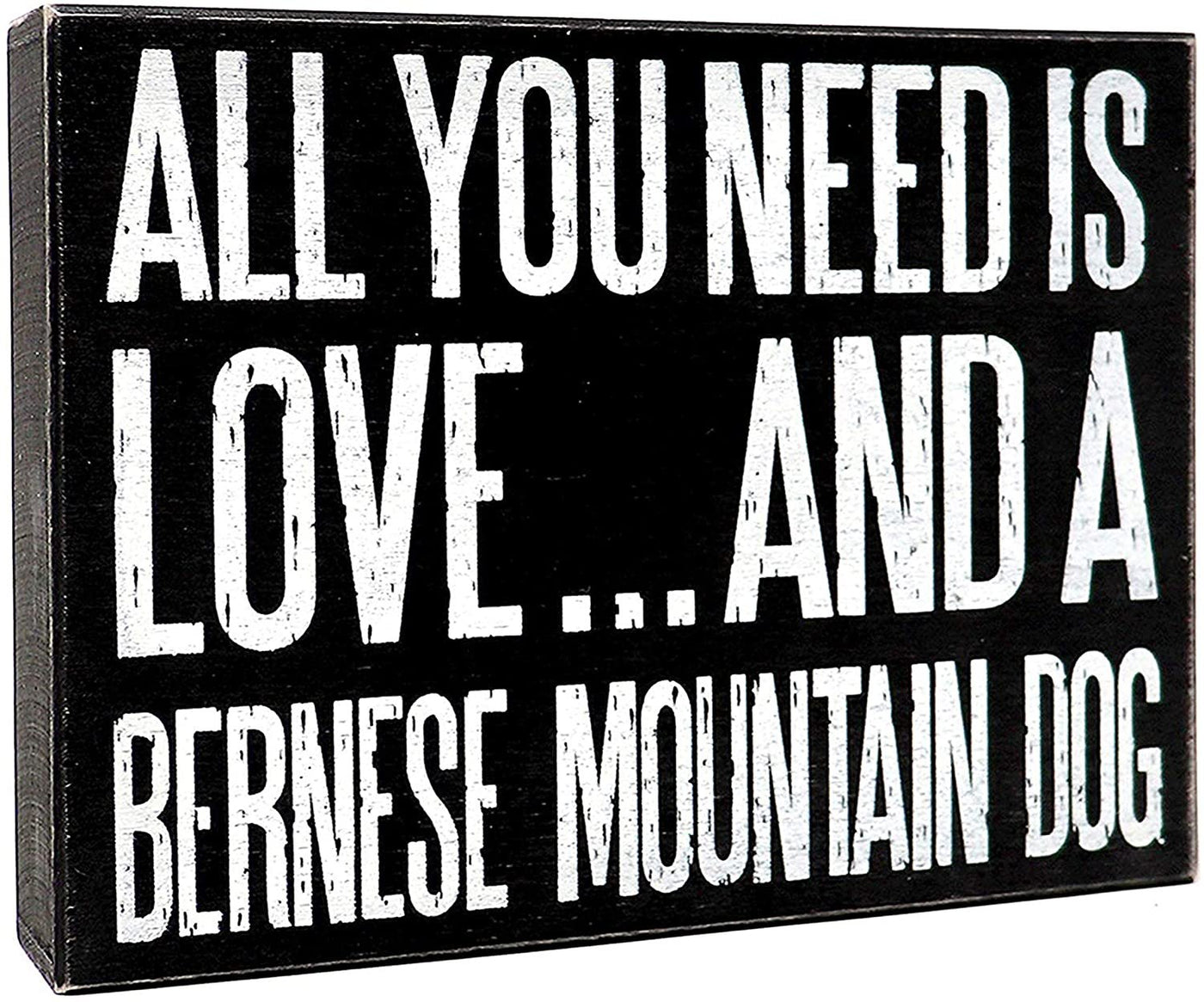 JennyGems Bernese Mountain Dog Sign, All You Need Is Love And A Bernese Mountain Dog, Bernese Mountain Dog Gifts, Bernese Mountain Dog Moms and Owners, Bernie Dog