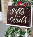 JennyGems Gifts and Cards Wedding Sign, Gift Table Sign, Real Wood Signs for Weddings, Parties, Special Events, Party Decor