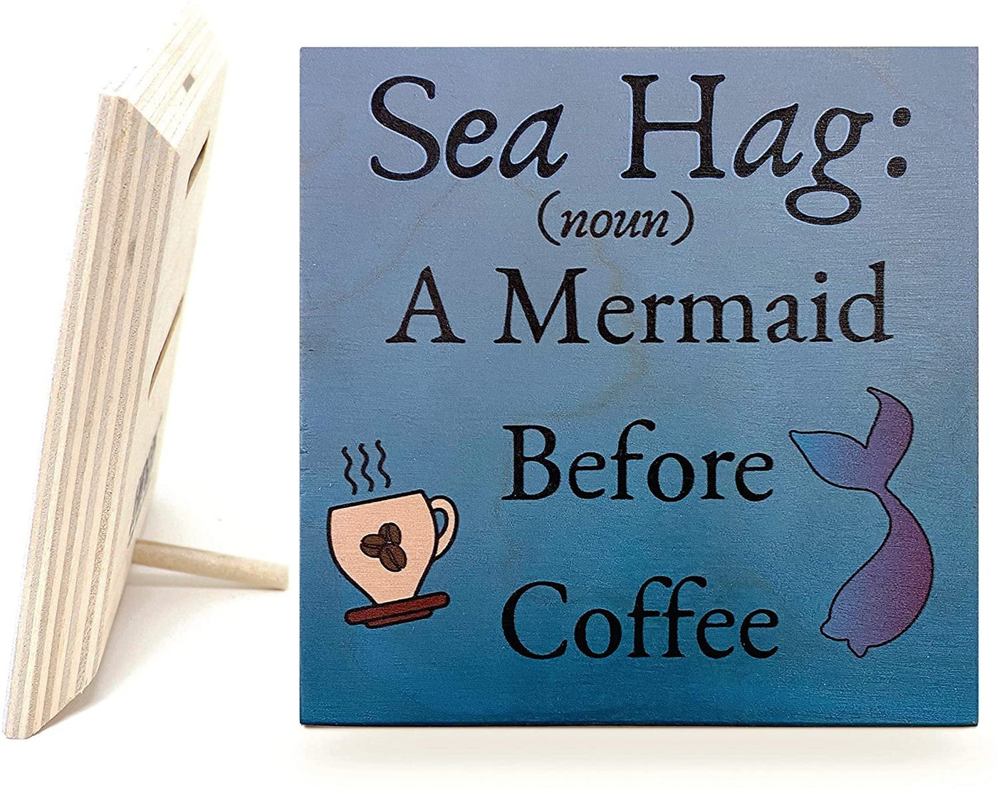 JennyGems Sea Hag Beach Sign | Wood Sign | Mom Gifts | Coastal Decor | Made in USA