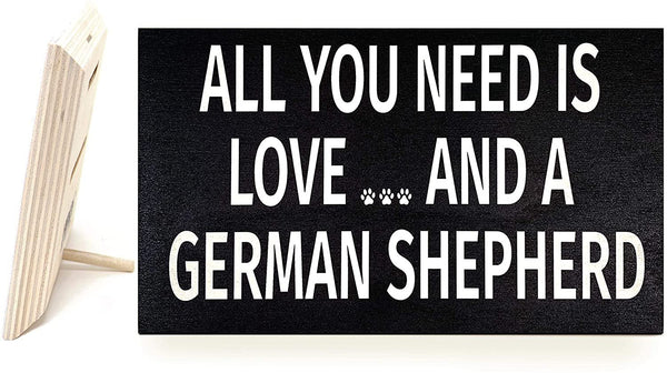JennyGems My Best Friend is a German Shepherd | Wooden Stand Up Sign | German Shepherd Moms Gift Series | German Shepherd Decor Signs | Real Wood | Made in USA