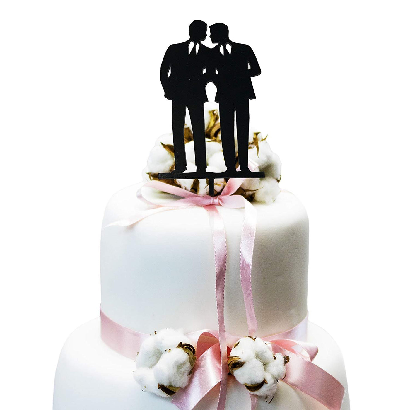 JennyGems - - Groom and Groom - Same Sex Gay Wedding Cake Topper Decoration - Anniversary Cake Topper - LGBT Marriage Union - Mr and Mr