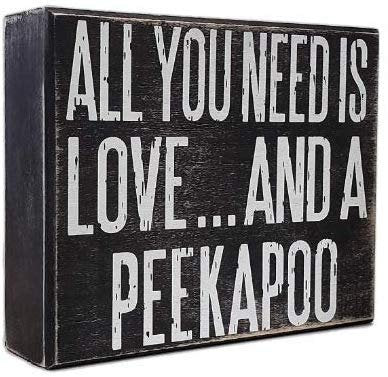JennyGems Peekapoo Sign, Wooden - All You Need is Love and a PeekaPoo, Peekapoo Moms, Peekapoo Dogs, Peekapoo Accessories, Peekapoo Gifts, Peekapoo Lovers