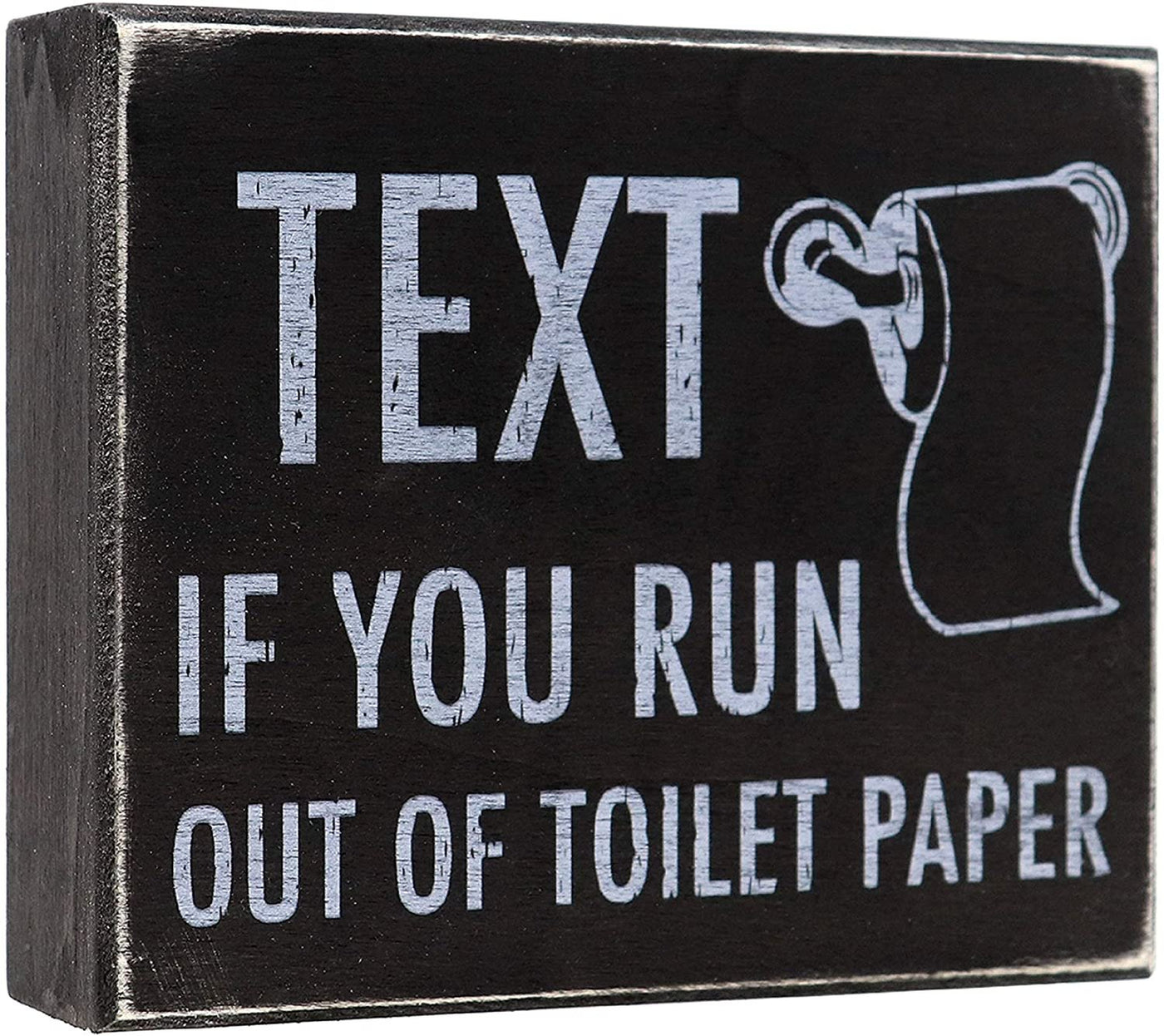 JennyGems -Text If You Run Out of Toilet Paper - Funny Bathroom Decor - Humor Sign for Toilet Room- Decoration for The Bathroom