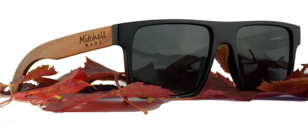 Red Wood Polarized Sunglasses -Flat Aviator  *FREE SHIPPING* -wood sunglasses by Mitchell-Made.com