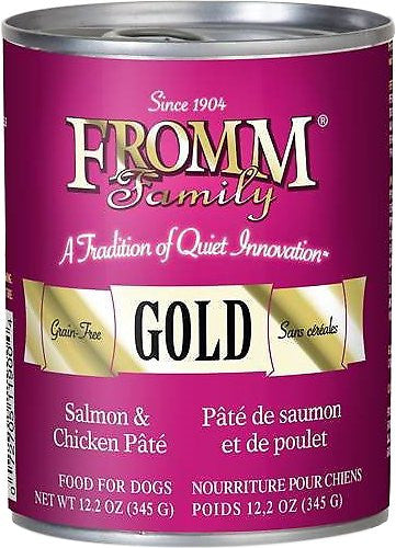 Fromm 12oz Gold Salmon & Chicken Pate