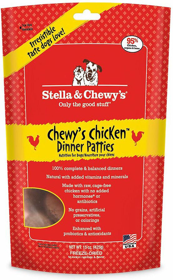 Stella & Chewy's Grain Free Freeze-Dried Patties Chewys Chicken