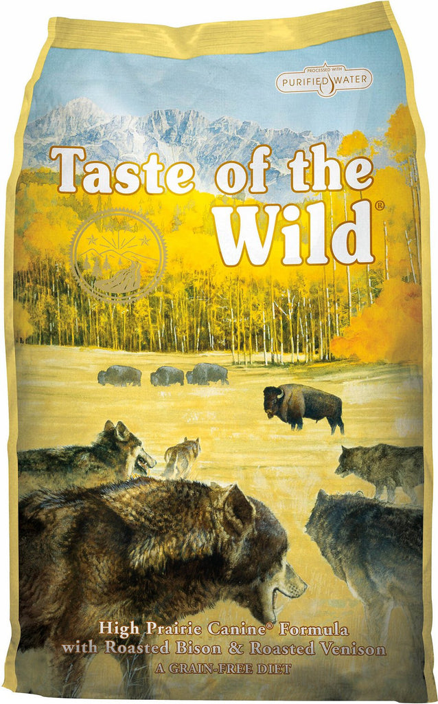 Taste of the Wild Grain Free Dry Dog Food High Prairie Canine® Formula with Roasted Bison & Roasted Venison
