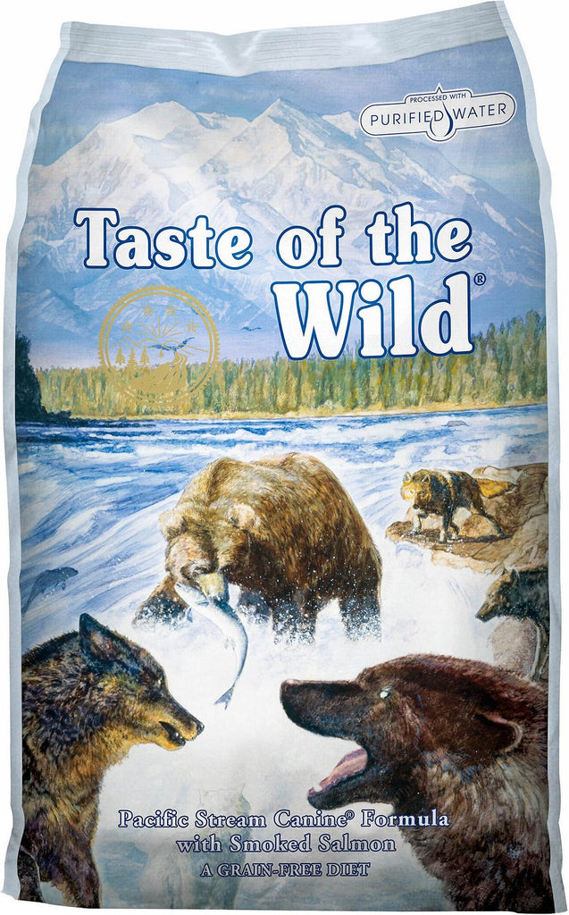 Taste of the Wild Grain Free Dry Dog Food Pacific Stream Canine® Formula with Smoked Salmon