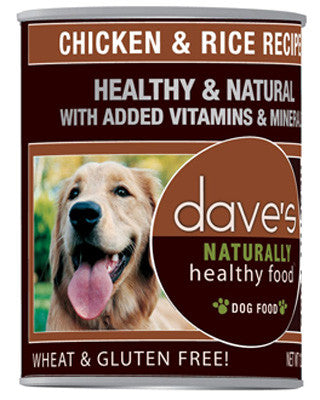 Daves Naturally Healthy™ Chicken And Rice Canned Dog Food -13oz-